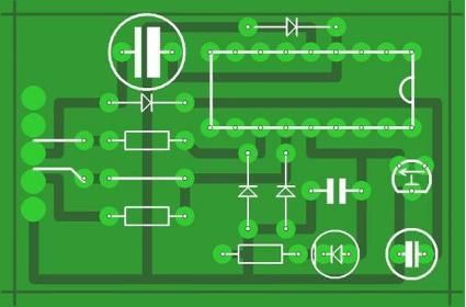 Рис. 7. Схема и печатная плата программатора для PIC16F628A